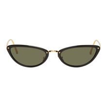 Linda Farrow Luxe Black and Gold 709 C1 Sunglasses