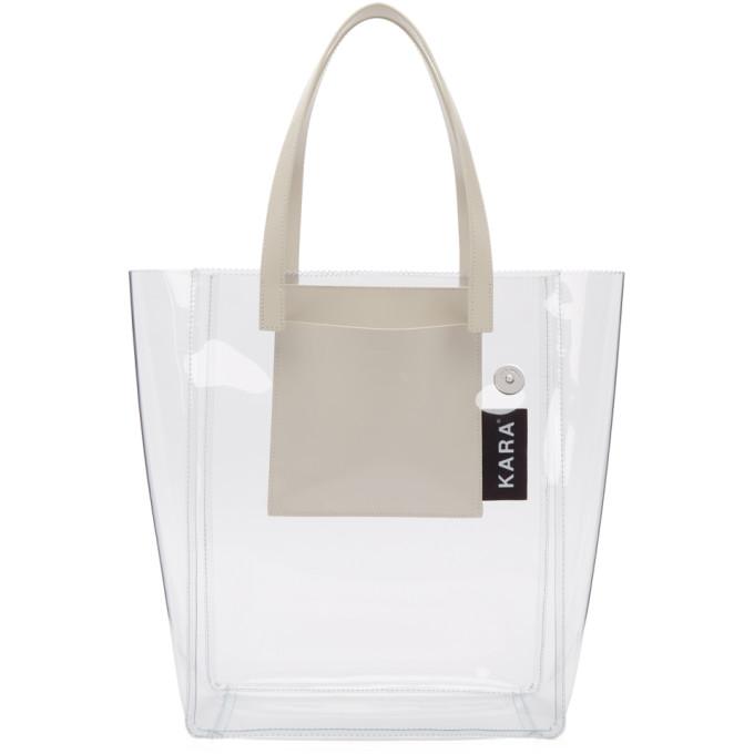 Kara   Kara SSENSE Exclusive Transparent PVC Pinch Tote   Clouty