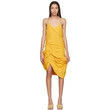 Jacquemus Yellow La Robe Coracao Dress