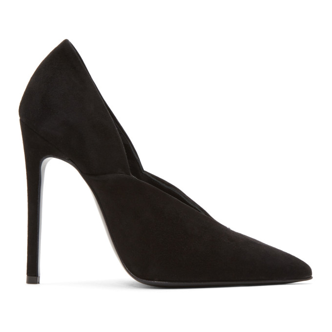 Victoria Beckham | Victoria Beckham Black Suede Eva Heels | Clouty