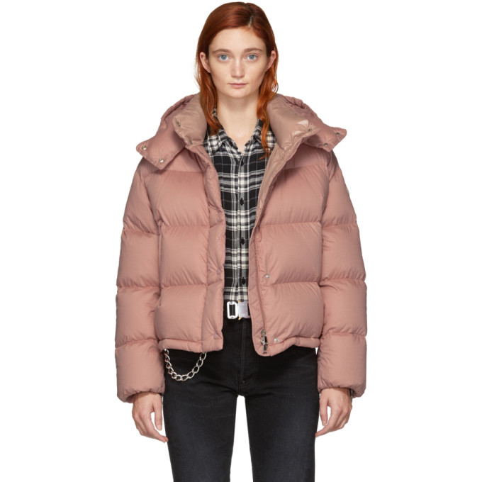 MONCLER | Moncler Pink Down Paeonia Jacket | Clouty