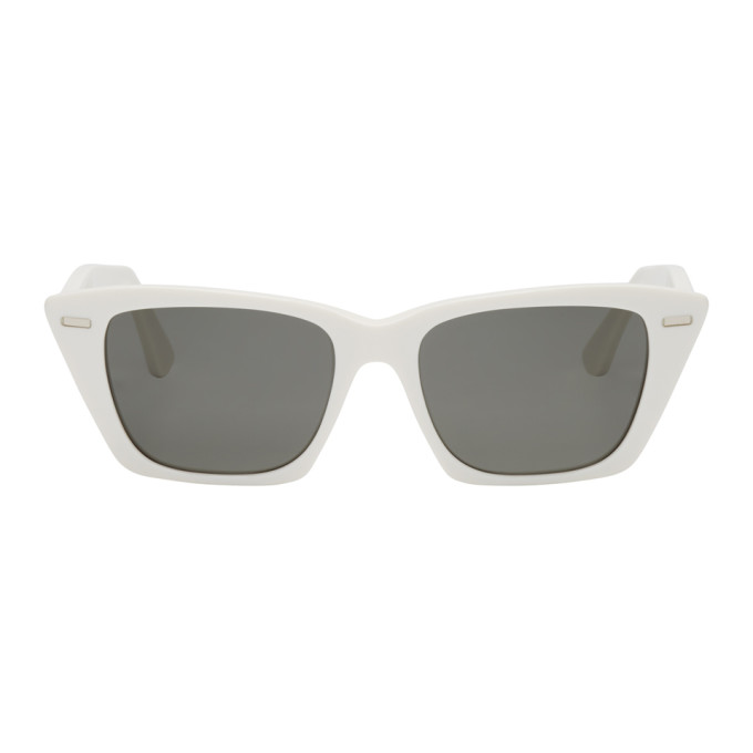 Acne Studios | Acne Studios White Ingridh Cat Eye Sunglasses | Clouty
