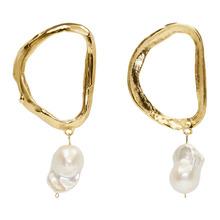 Alighieri Gold Dantes Shadow Pearl Earrings