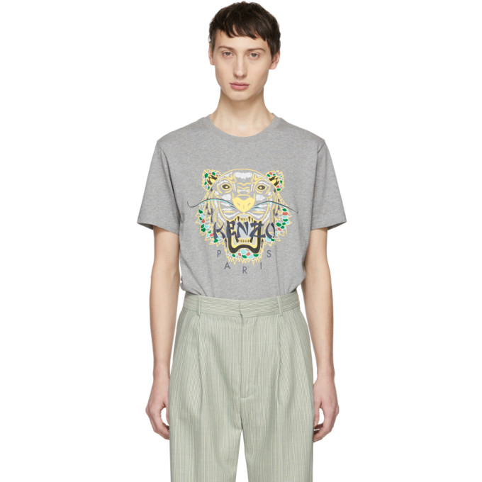 KENZO | Kenzo Grey Limited Edition Dragon Tiger T-Shirt | Clouty