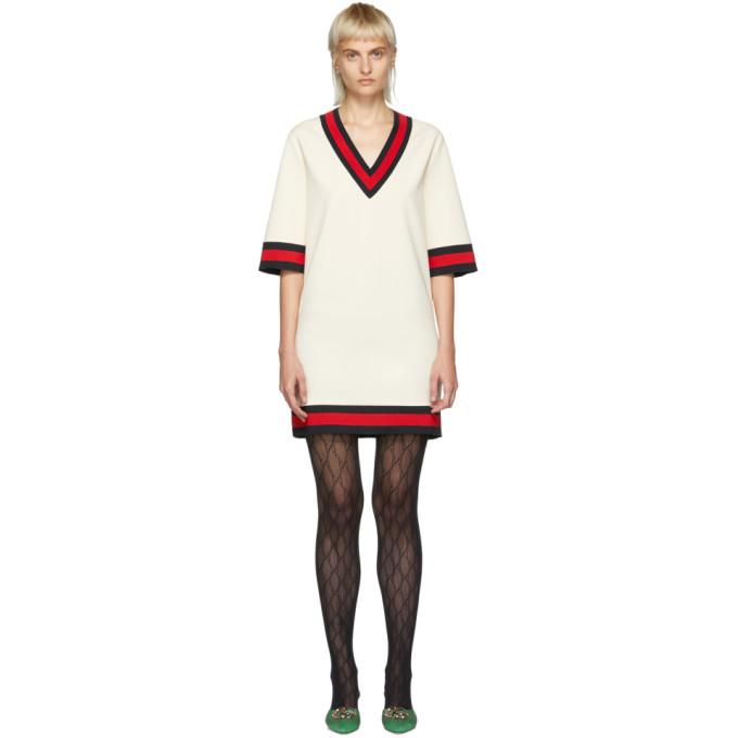 GUCCI   Gucci Off-White Short Webbing Dress   Clouty