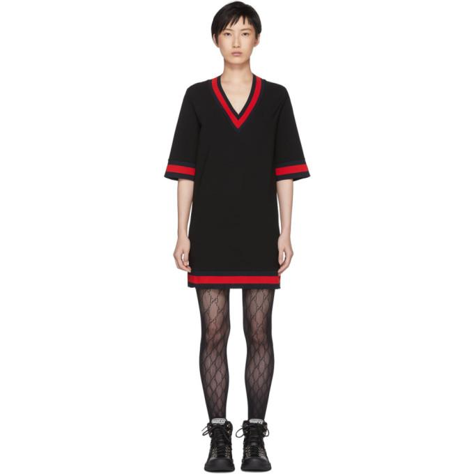 GUCCI | Gucci Black Short Webbing Dress | Clouty