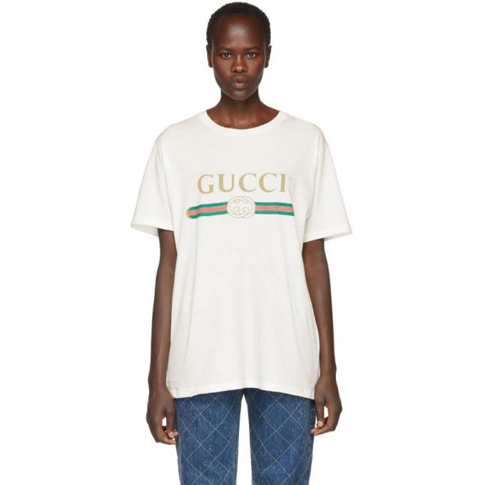 GUCCI | Gucci Off-White Logo T-Shirt | Clouty
