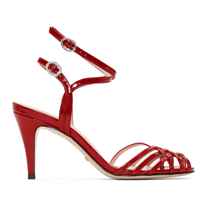 GUCCI | Gucci Red Draconia Sandals | Clouty