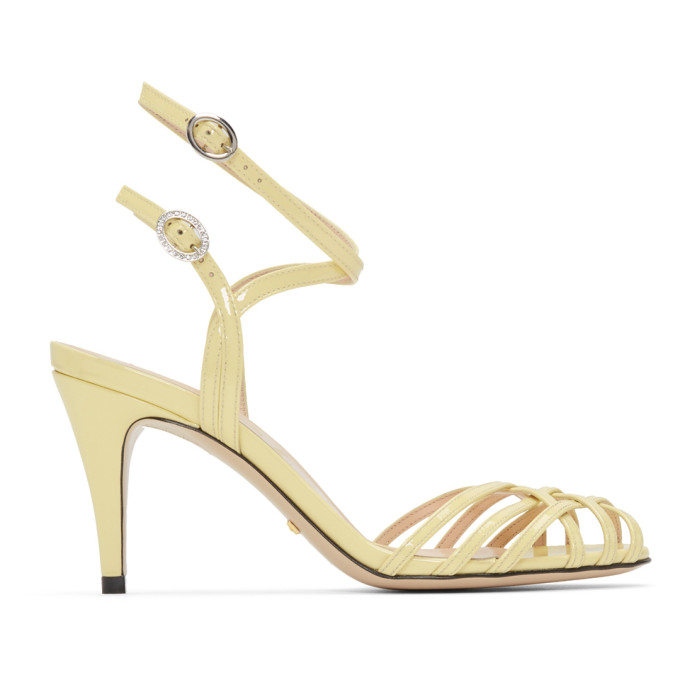 GUCCI | Gucci Yellow Draconia Sandals | Clouty