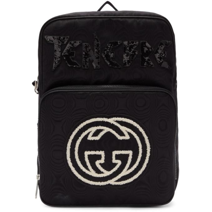 GUCCI | Gucci Black Tenebre Patch Backpack | Clouty