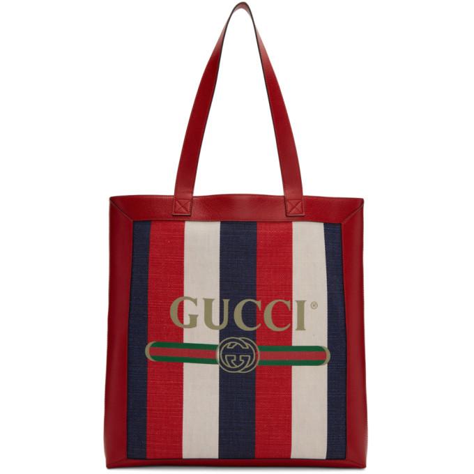 GUCCI | Gucci Tricolor Striped Tote | Clouty