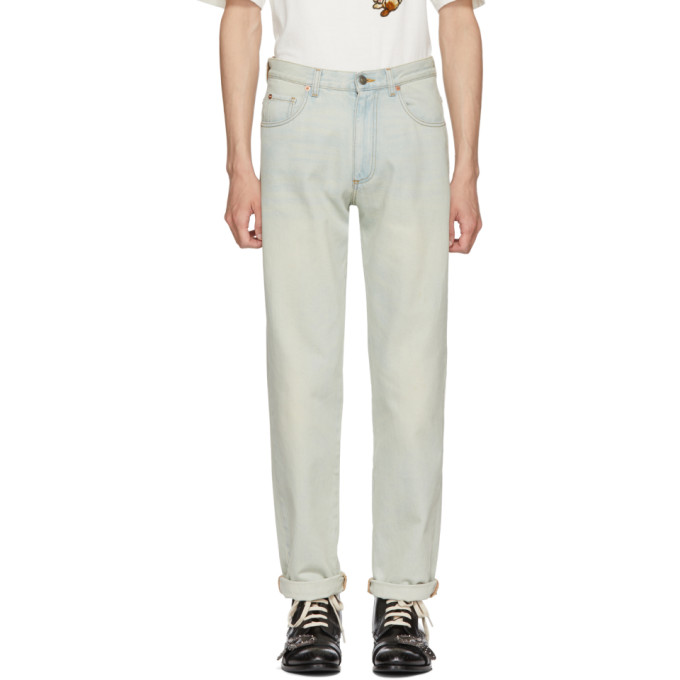 GUCCI | Gucci Blue Amour 80s Fit Jeans | Clouty