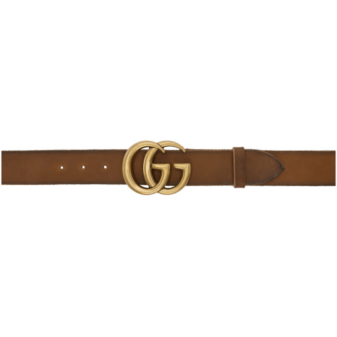 GUCCI | Gucci Brown GG Toscano Belt | Clouty