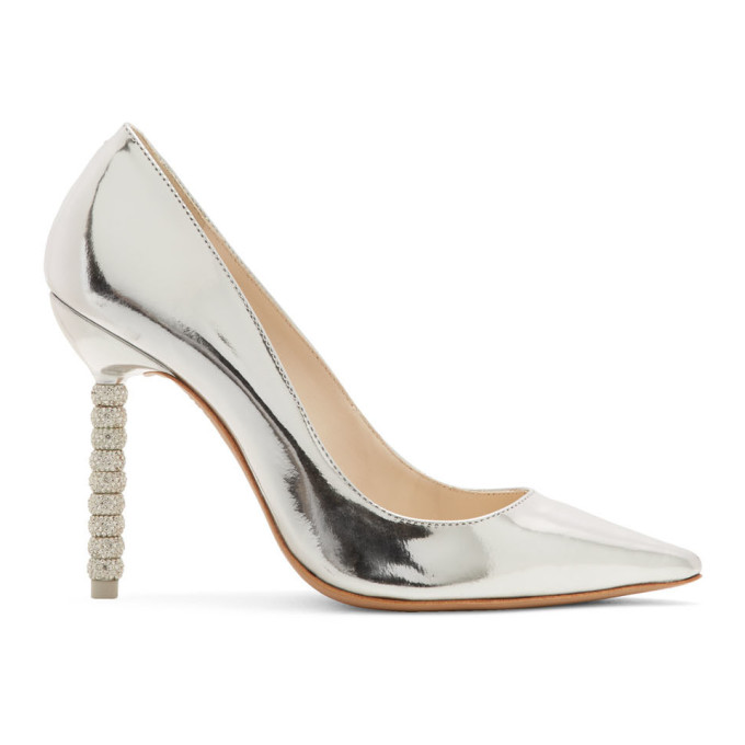 SOPHIA WEBSTER | Sophia Webster Silver Coco Flamingo Heels | Clouty