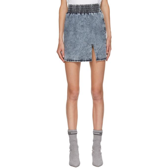 MIU MIU | Miu Miu Blue Washed Denim Skirt | Clouty