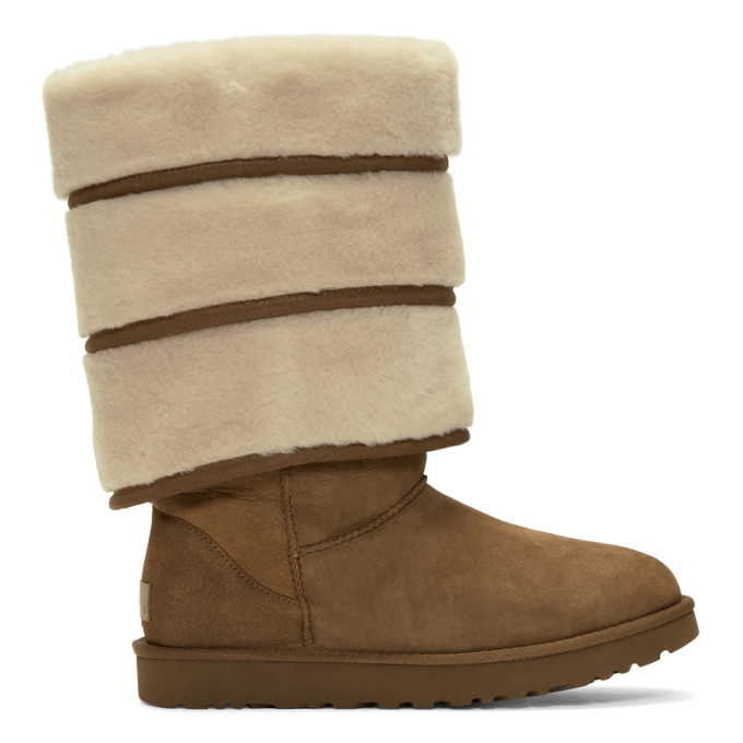 Y/Project | Y/Project Brown Uggs Edition Layered Boots | Clouty