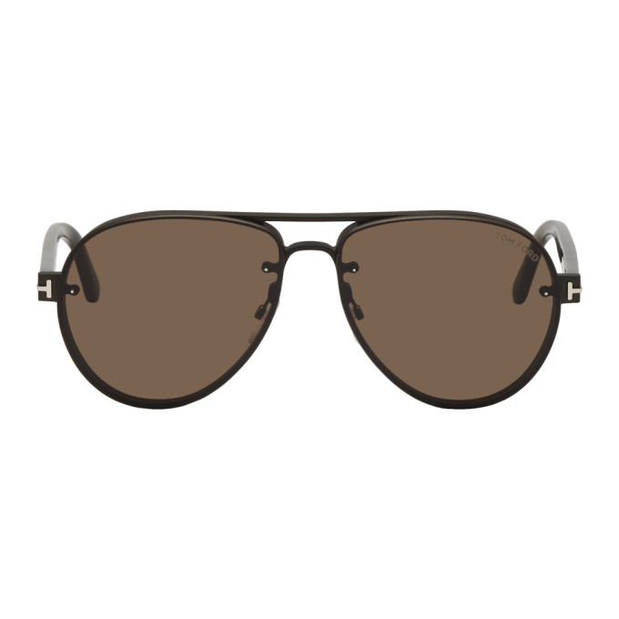 Tom Ford | Tom Ford Black and Brown Alexei-02 Sunglasses | Clouty
