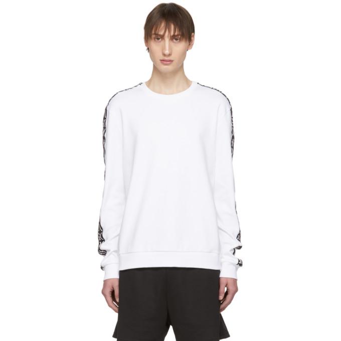 HUGO | Hugo White Doby Sweatshirt | Clouty