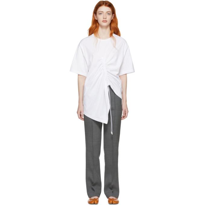 Maison Margiela | Maison Margiela White Asymmetric T-Shirt | Clouty