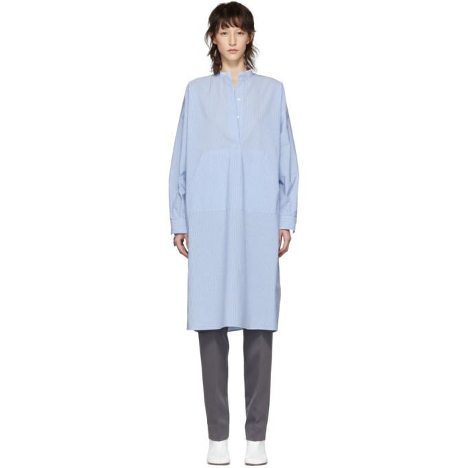 MM6 Maison Margiela | MM6 Maison Margiela Blue Cotton Shirt Dress | Clouty