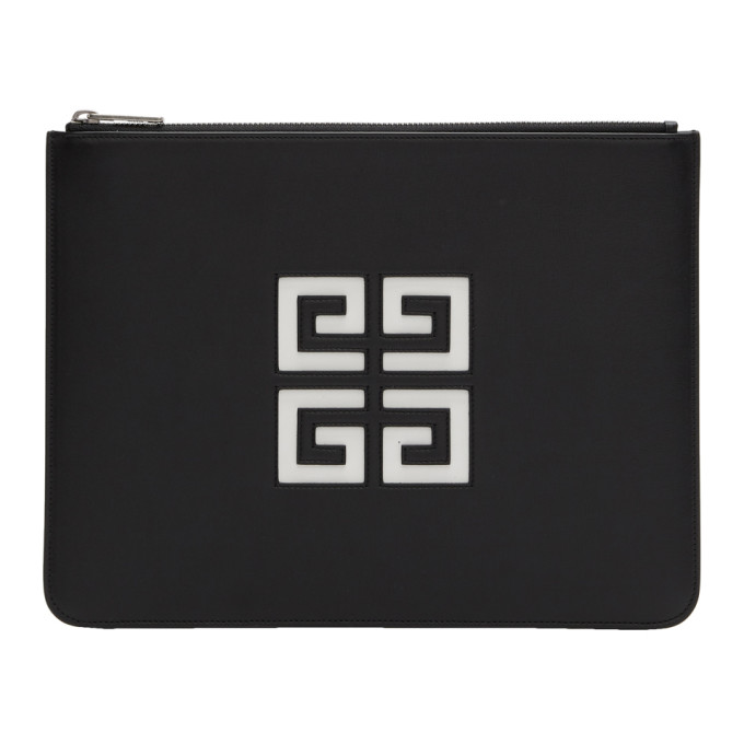 GIVENCHY | Givenchy Black Large 4G Zipped Pouch | Clouty