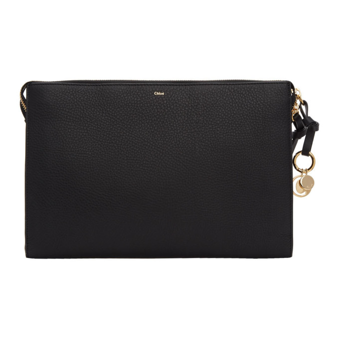Chloé | Chloe Black Large Alphabet Pouch | Clouty