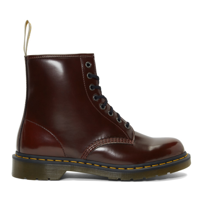 Dr. Martens | Dr. Martens Burgundy Vegan 1460 Boots | Clouty