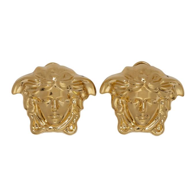 Versace | Versace Gold Medusa Stud Earrings | Clouty