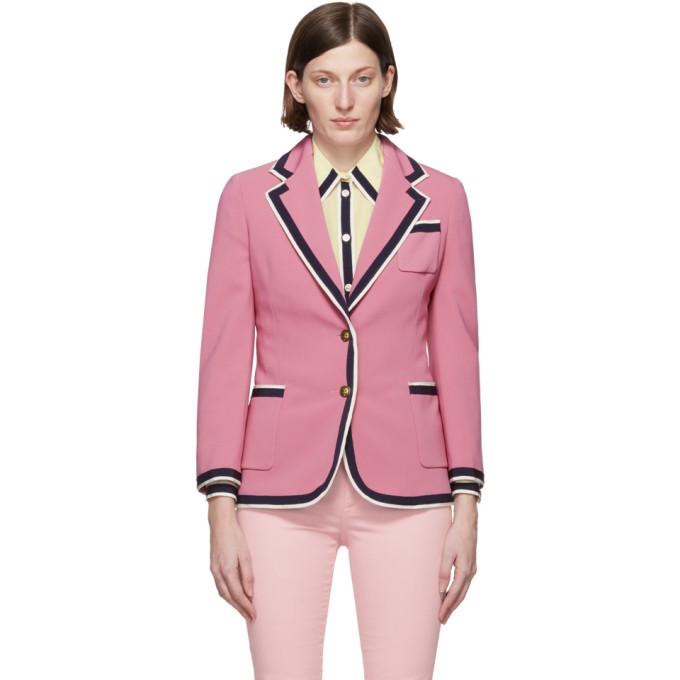 GUCCI | Gucci Pink Cady Blazer | Clouty