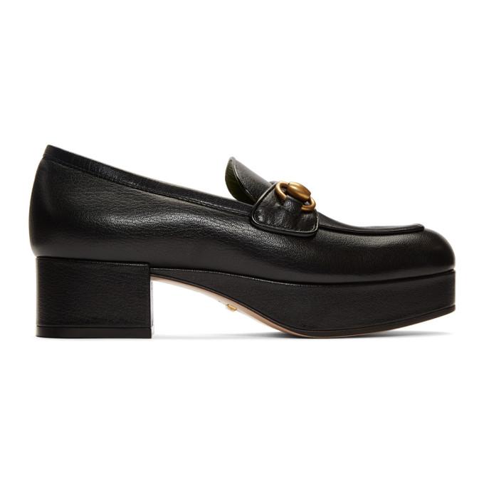 GUCCI | Gucci Black Houdan Horsebit 45 Heels | Clouty