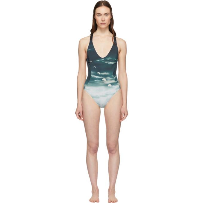 Stella McCartney | Stella McCartney Blue Stella Trip One-Piece Swimsuit | Clouty