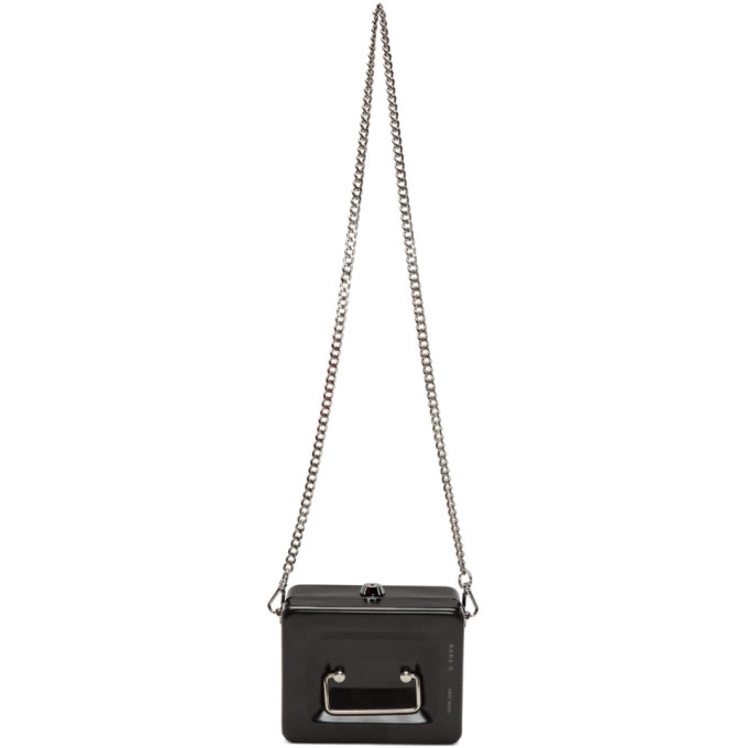 Kara | Kara Black Lock Box Bag | Clouty