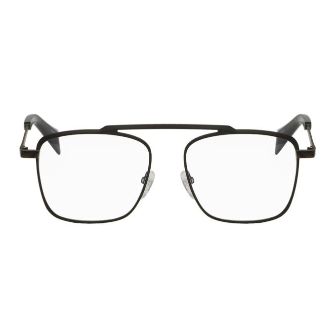 YOHJI YAMAMOTO | Yohji Yamamoto Gunmetal Single Piece Glasses | Clouty