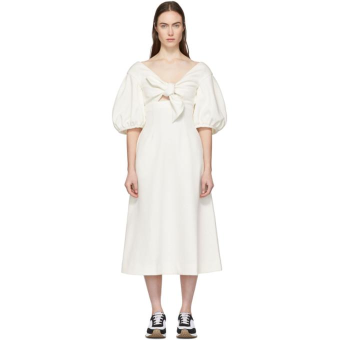 Edit | Edit White Tie Front A-Line Dress | Clouty