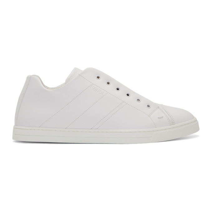 FENDI   Fendi White Forever Fendi Reloaded Sneakers   Clouty