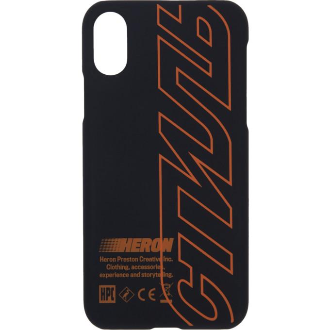 Heron Preston | Heron Preston Black Style iPhone X Case | Clouty
