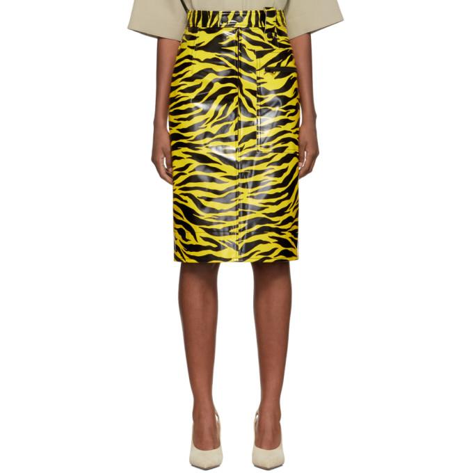Kwaidan Editions | Kwaidan Editions Yellow and Black Tiger Print Pencil Skirt | Clouty