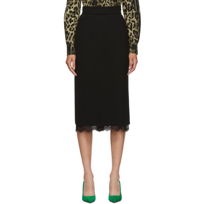 Dolce & Gabbana | Dolce and Gabbana Black Pencil Skirt | Clouty