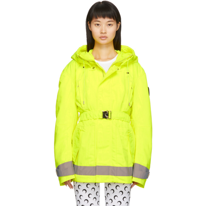 Marine Serre | Marine Serre Yellow Detachable Liner Parka | Clouty