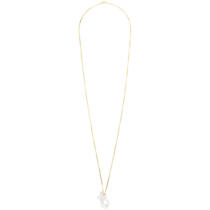 Alighieri | Alighieri Gold and Transparent The Spellbinding Tear Catcher Necklace | Clouty