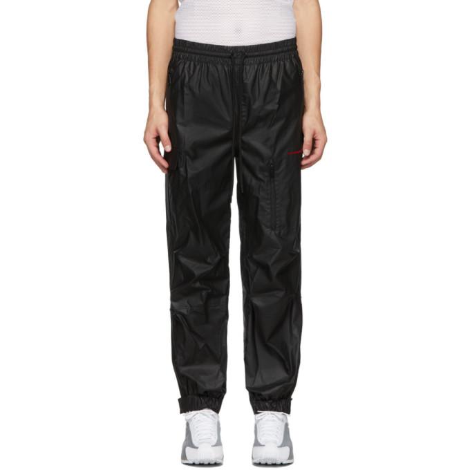 Alexander Wang   Alexander Wang Black Pleather Chynatown Lounge Pants   Clouty