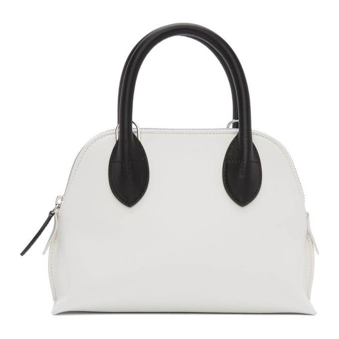 LANVIN | Lanvin White and Black Mini Magot Bag | Clouty
