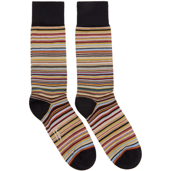 Paul Smith   Paul Smith Three-Pack Multicolor Striped Socks   Clouty