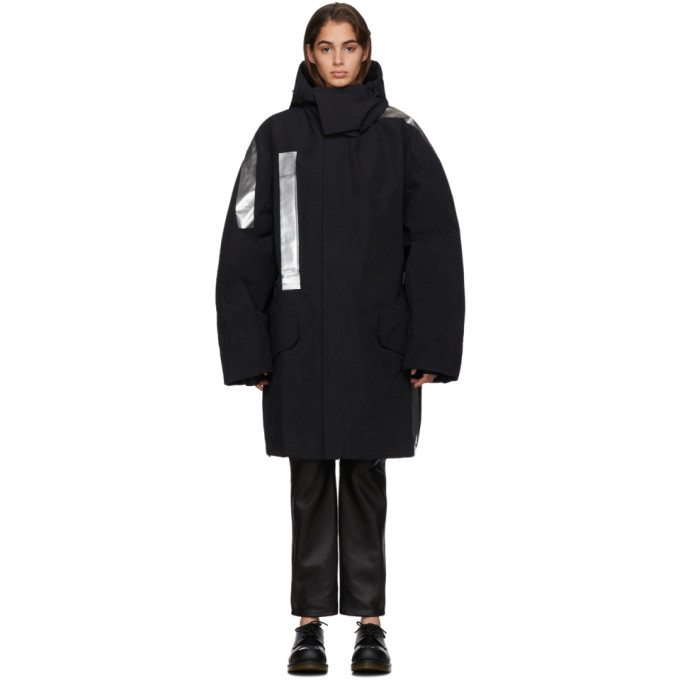 Raf Simons | Raf Simons Black Templa Edition Oversized Shell Ski Jacket | Clouty