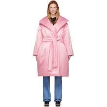 Фото Balenciaga Pink Padded Wrap Coat