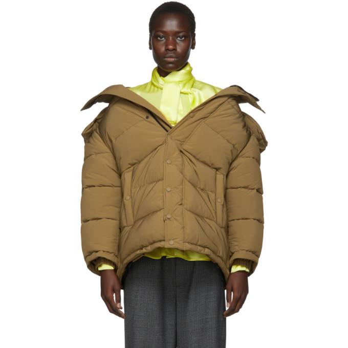 Balenciaga | Balenciaga Brown Swing Puffer Jacket | Clouty