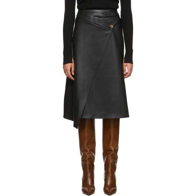 Aeron | Aeron Black Nola Wrap Button Skirt | Clouty