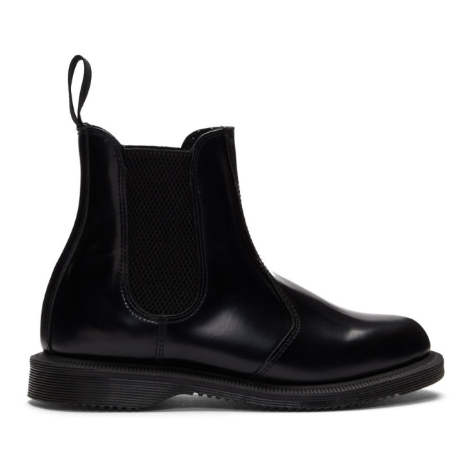 Dr. Martens | Dr. Martens Black Flora Chelsea Boots | Clouty