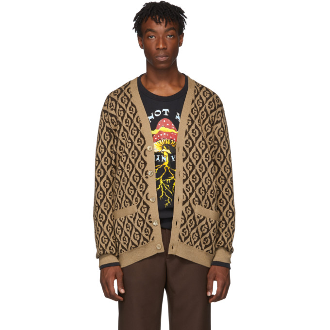 GUCCI | Gucci Brown G Rhombus Cardigan | Clouty