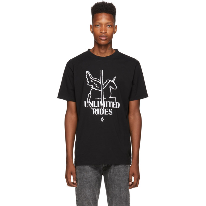 Marcelo Burlon | Marcelo Burlon County of Milan Black Unlimited Rides T-Shirt | Clouty